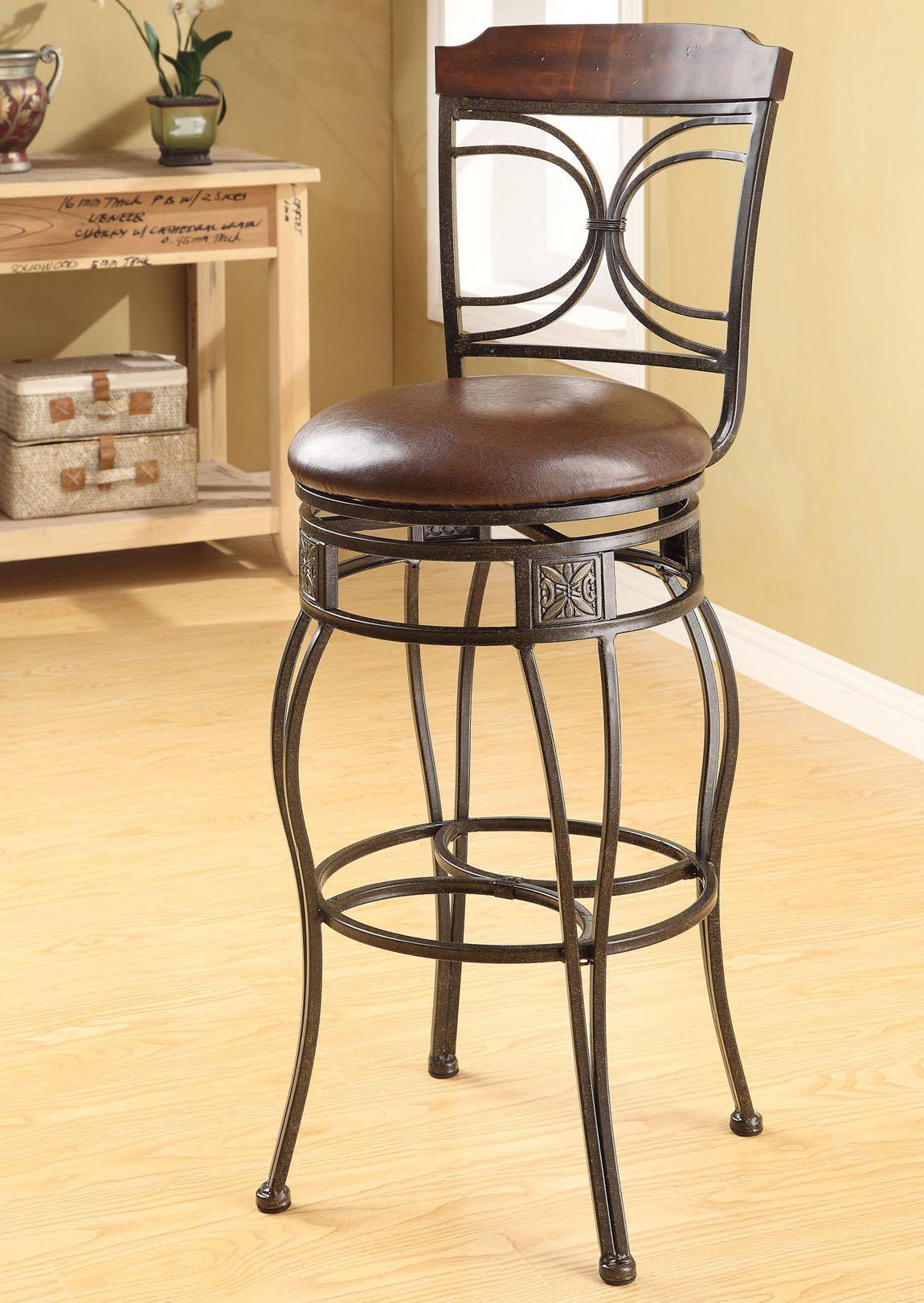 Acme Furniture Tavio Swivel Bar Chair - Item Number: 96047