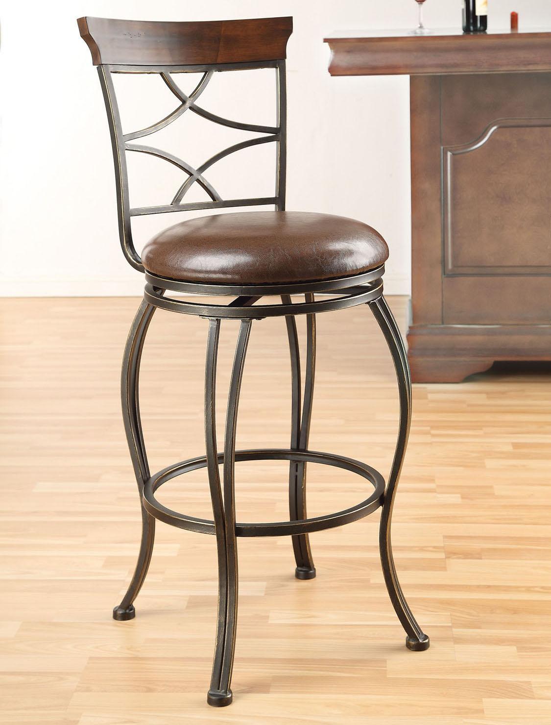Acme Furniture Tavio Swivel Bar Chair - Item Number: 96050