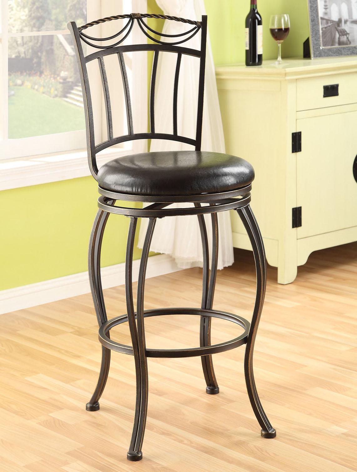 Acme Furniture Tavio Swivel Bar Chair - Item Number: 96052
