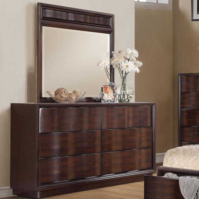Acme Furniture Travell Dresser and Mirror Set - Item Number: 20525+20524