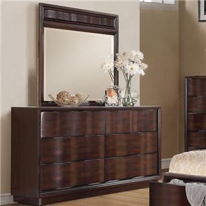 Acme Furniture Travell Dresser and Mirror Set