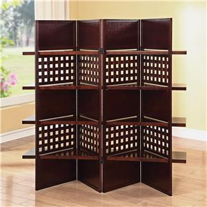 Acme Furniture Trudy Dark Brown 4-Panel Wooden Screen