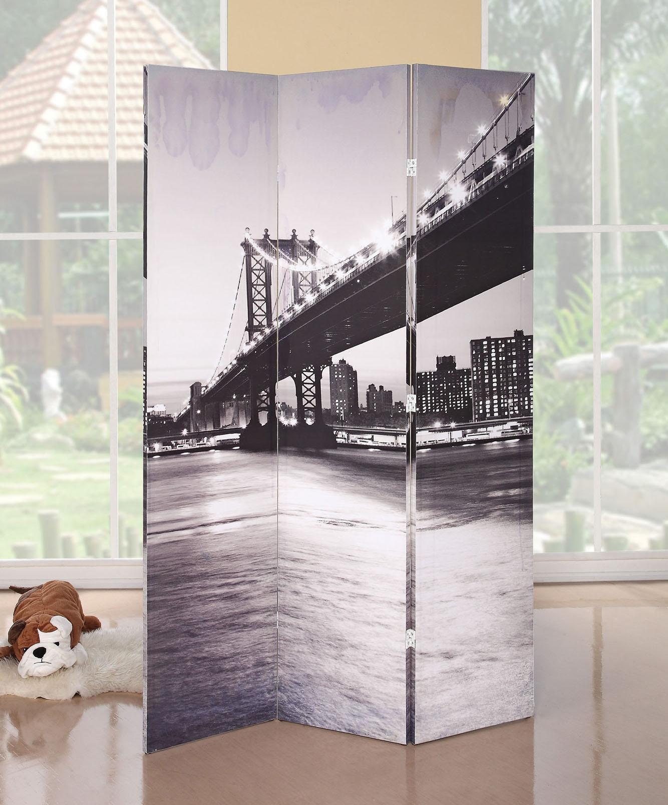 Acme Furniture Trudy Bridge 3-Panel Wooden Screen - Item Number: 98017
