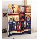 Acme Furniture Trudy Scenery 4-Panel Wooden Screen - Item Number: 98018