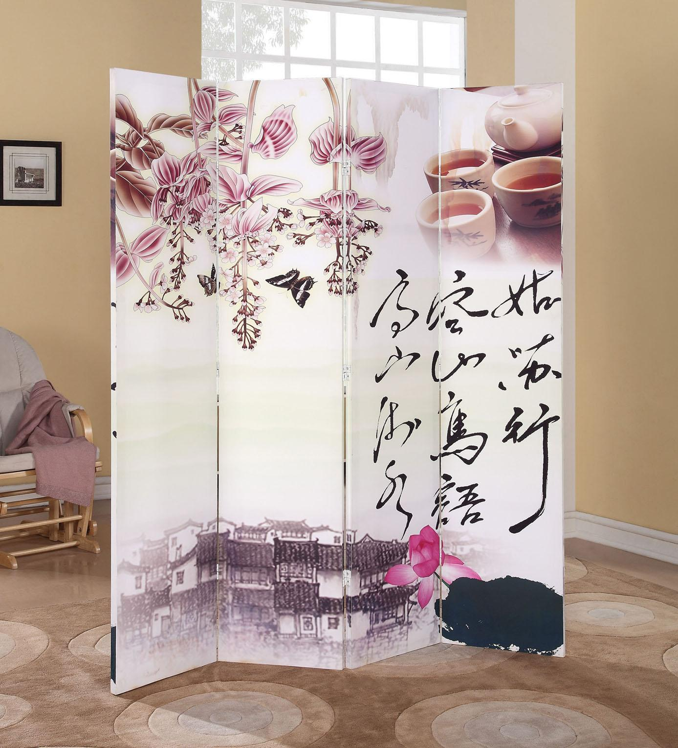 Acme Furniture Trudy Chinese 4-Panel Wooden Screen - Item Number: 98019