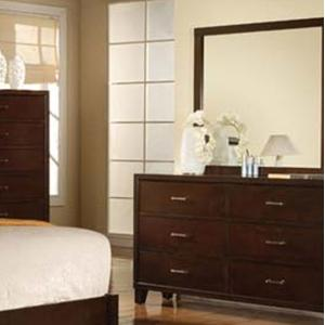 Acme Furniture Tyler Dresser & Mirror - Item Number: 19544+5