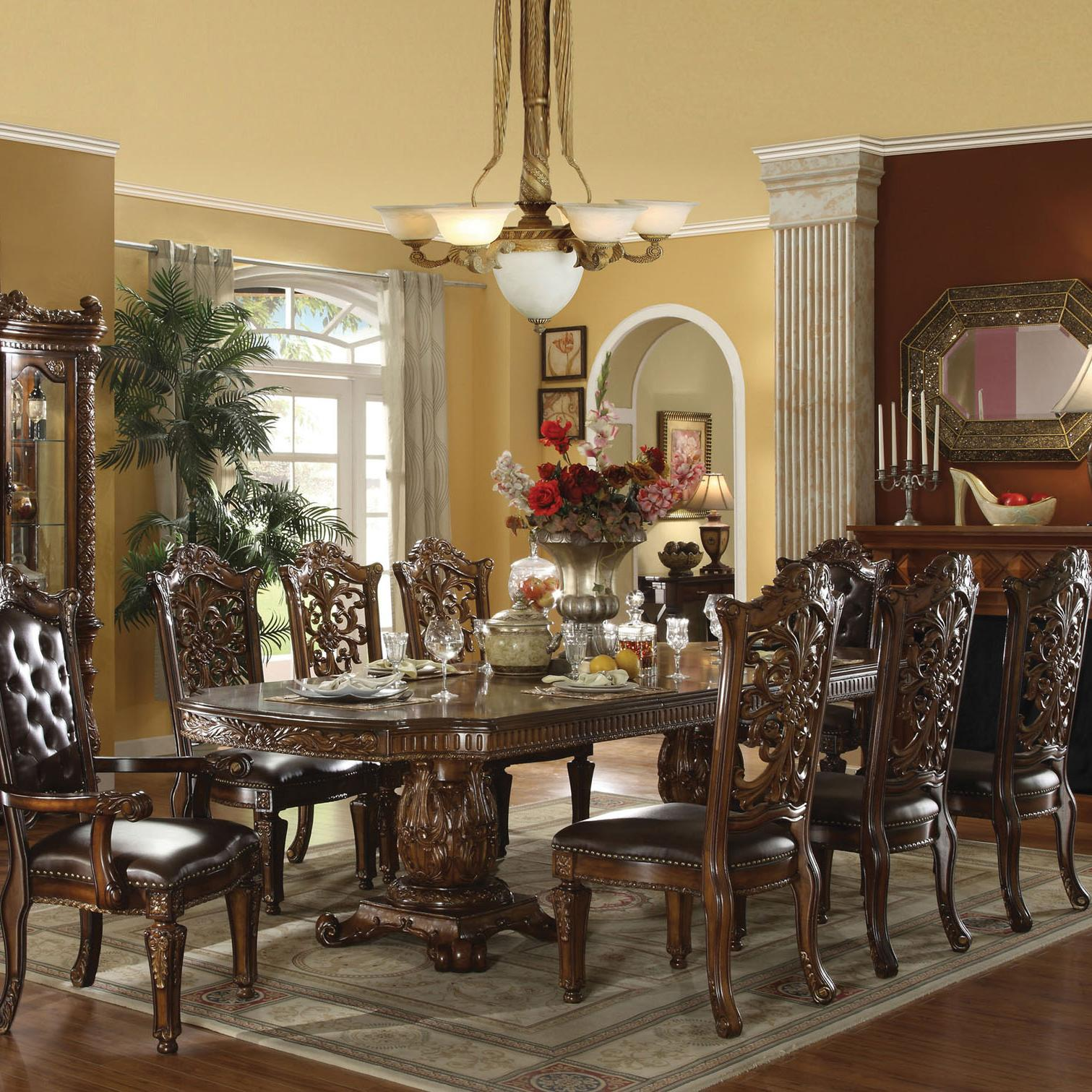 Acme Furniture Vendome Traditional Dining Table And Chair Set   Item  Number: 60000+60003
