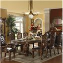 Acme Furniture Vendome Traditional Dining Table and Chair Set - Item Number: 60000+60003+60004
