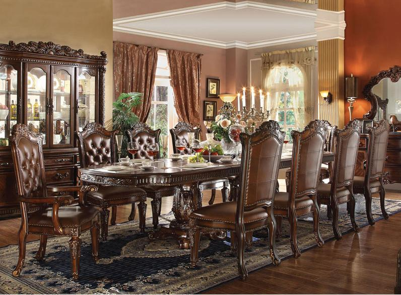 Acme Furniture Vendome 11 Piece Table and Chairs Set - Item Number: 62000+8x62004+2x60004