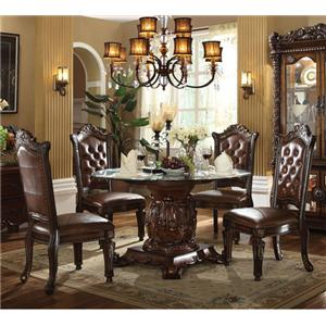Acme Furniture Vendome 5 Piece Table and Chairs Set