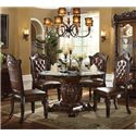 Acme Furniture Vendome 5 Piece Table and Chairs Set - Item Number: 62010+07800GL+4x62004