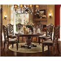 Acme Furniture Vendome 7 Piece Table and Chairs Set - Item Number: 62020+6x60003