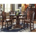 Acme Furniture Vendome Counter Height Chair with Carved Details and Tufted Back