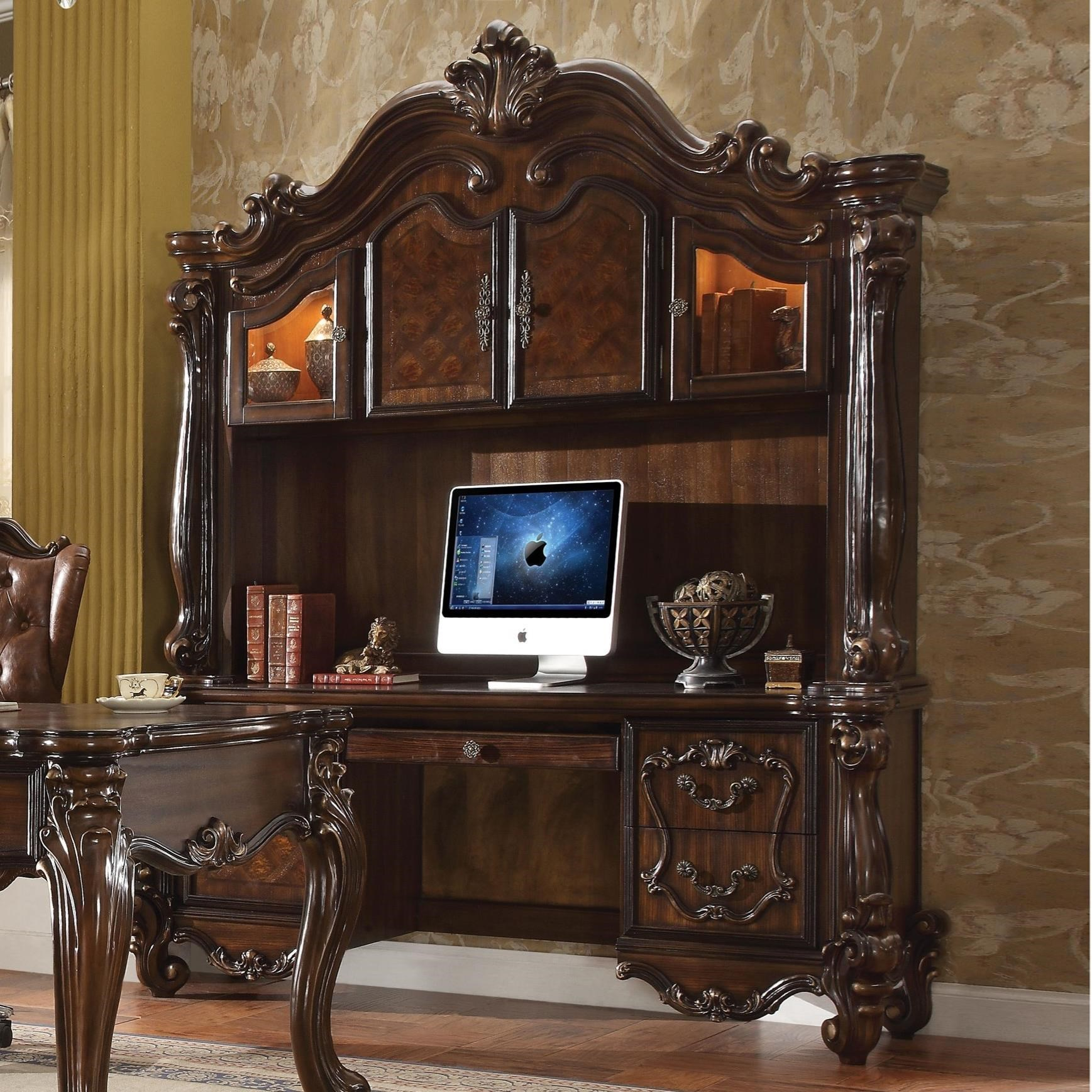 Acme Furniture Versailles 92284 Computer Desk Hutch Del Sol Furniture Desk Hutch Sets