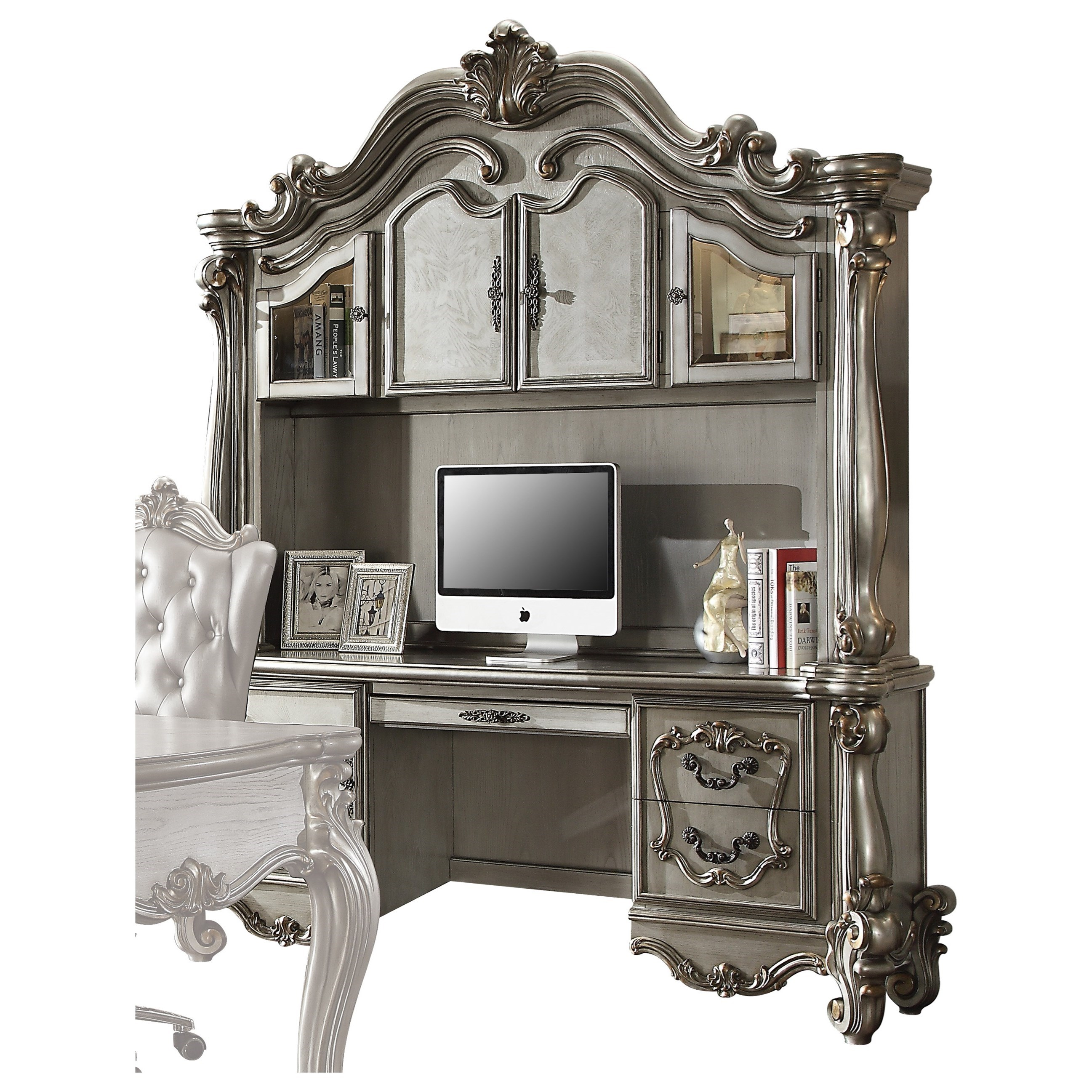 Acme Furniture Versailles 92824 Computer Desk Hutch Del Sol Furniture Desk Hutch Sets