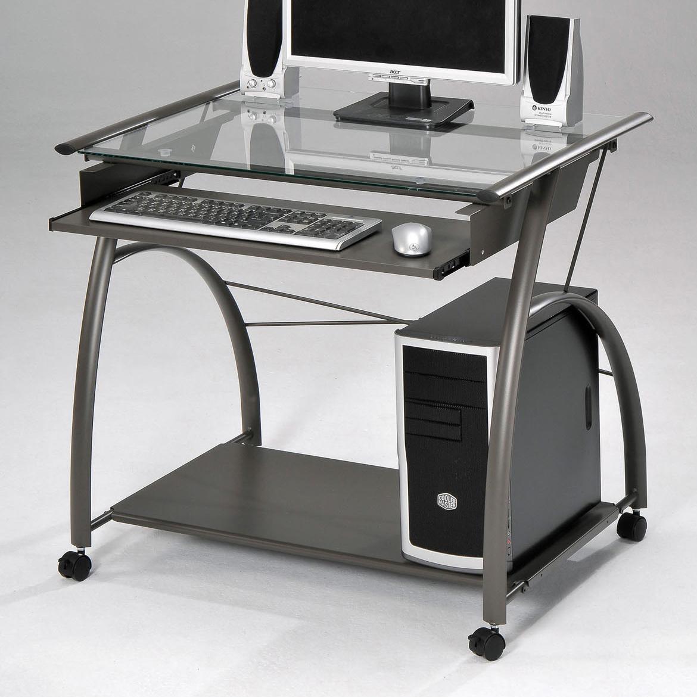 Acme Furniture Vincent Silver Computer Desk - Item Number: 00118