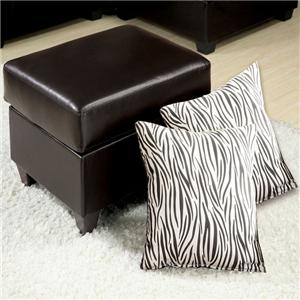 Acme Furniture Vogue Ottoman with 2 Pillows