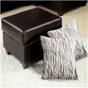 Acme Furniture Vogue Ottoman with 2 Pillows - Item Number: 05909