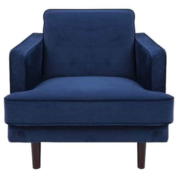 Actona Company Bliss Chair - Item Number: 71801-Vic Dark Blue
