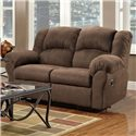 Affordable Furniture 1000 Reclining Loveseat with Pillow Arms - 1002 - Loveseat Shown May Not Represent Exact Features Indicated