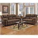 Affordable Furniture 1000 Reclining Loveseat with Pillow Arms - 1002