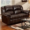 Affordable Furniture 1000 Reclining Loveseat with Pillow Arms - Loveseat Shown May Not Represent Exact Features Indicated