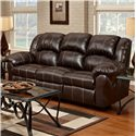 Affordable Furniture 1000 Reclining Sofa with Pub-Back & Saddle Stitching - Recliner Shown May Not Represent Exact Features Indicated