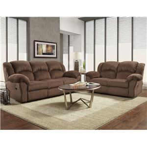 Affordable Furniture 1000 Aspen Chocolate Living Room Group 1