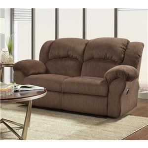 Affordable Furniture 1000 Aspen Chocolate Reclining Loveseat