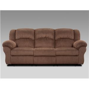 Affordable Furniture 1000 Aspen Chocolate Reclining Sofa