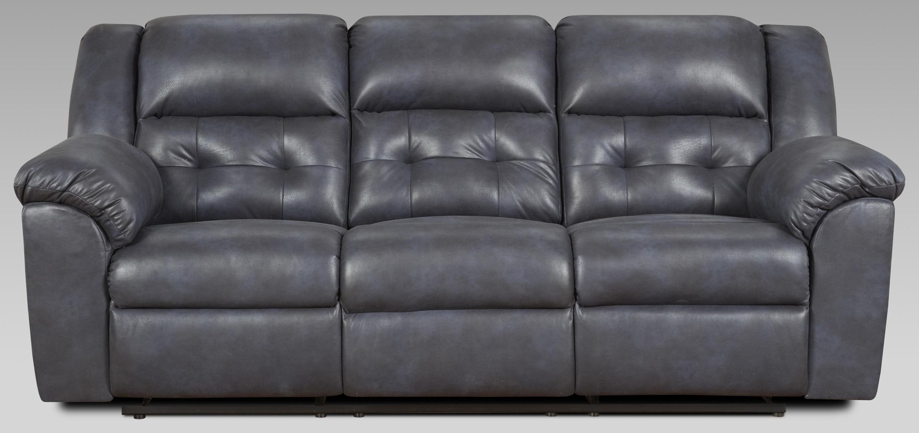 1500 Telluride Indigo Dual Reclining Power Sofa by Affordable Furniture at Furniture Fair - North Carolina