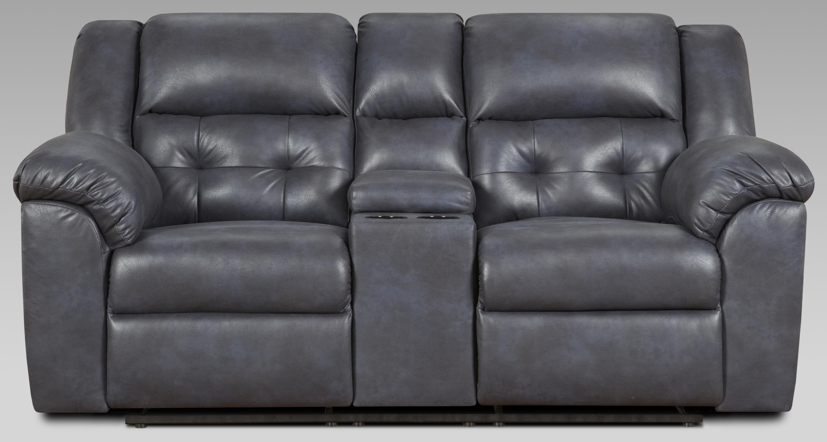 1500 Telluride Indigo Reclining Console Loveseat by Affordable Furniture at Furniture Fair - North Carolina