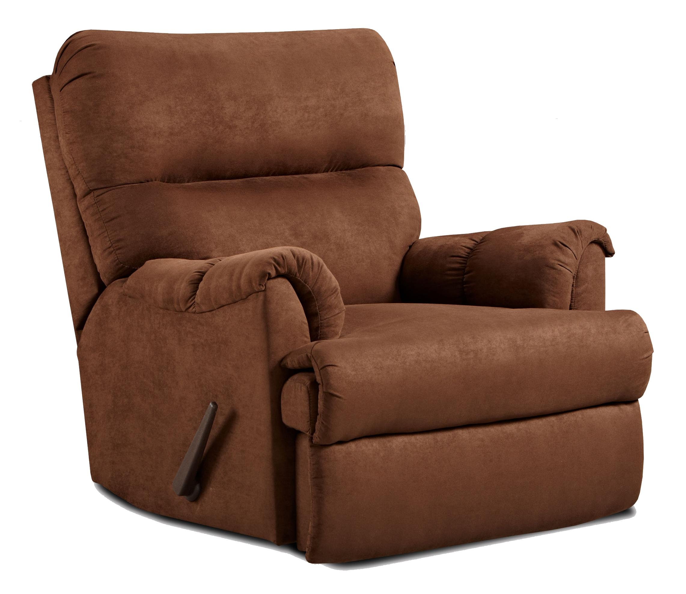 Affordable Furniture 2155 Chaise Rocker Recliner - Item Number: 2155 A