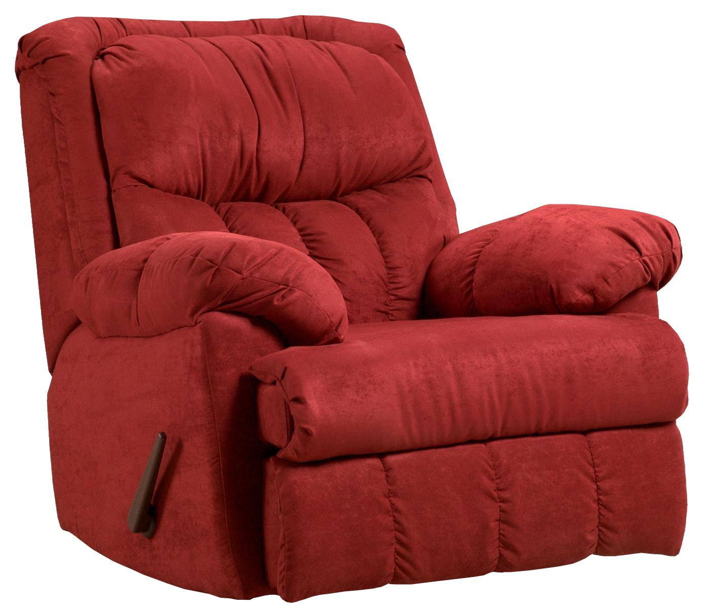 Affordable Furniture Sensations Casual Rocker Recliner  - Item Number: 2500 Red Brick