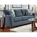 Affordable Furniture 3330 Allure Navy Stationary Sofa - Item Number: 3333-AN