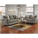 Affordable Furniture 3330 Sofa and Loveseat - Item Number: SOFA-LS