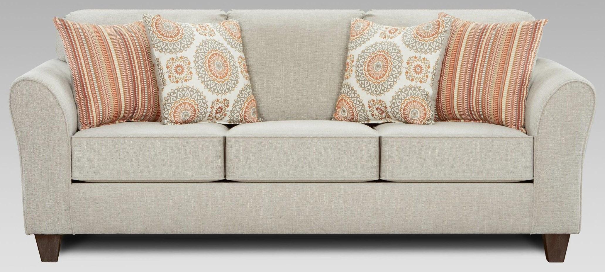 5040 Bennington Taupe Sofa at Bennett's Furniture and Mattresses