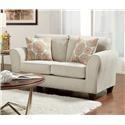 Affordable Furniture Bennington Taupe Loveseat - Item Number: 5042