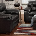 Affordable Furniture 5600 Loveseat - Item Number: 5602 Austin Black