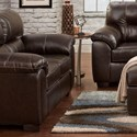 Affordable Furniture 5600 Loveseat - Item Number: 5602 Austin Chocolate