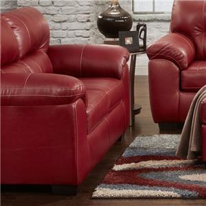 Affordable Furniture 5600 Loveseat - 5602 Austin Red
