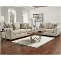 Affordable Furniture 5700 Sofa and Loveseat - Item Number: 121357099