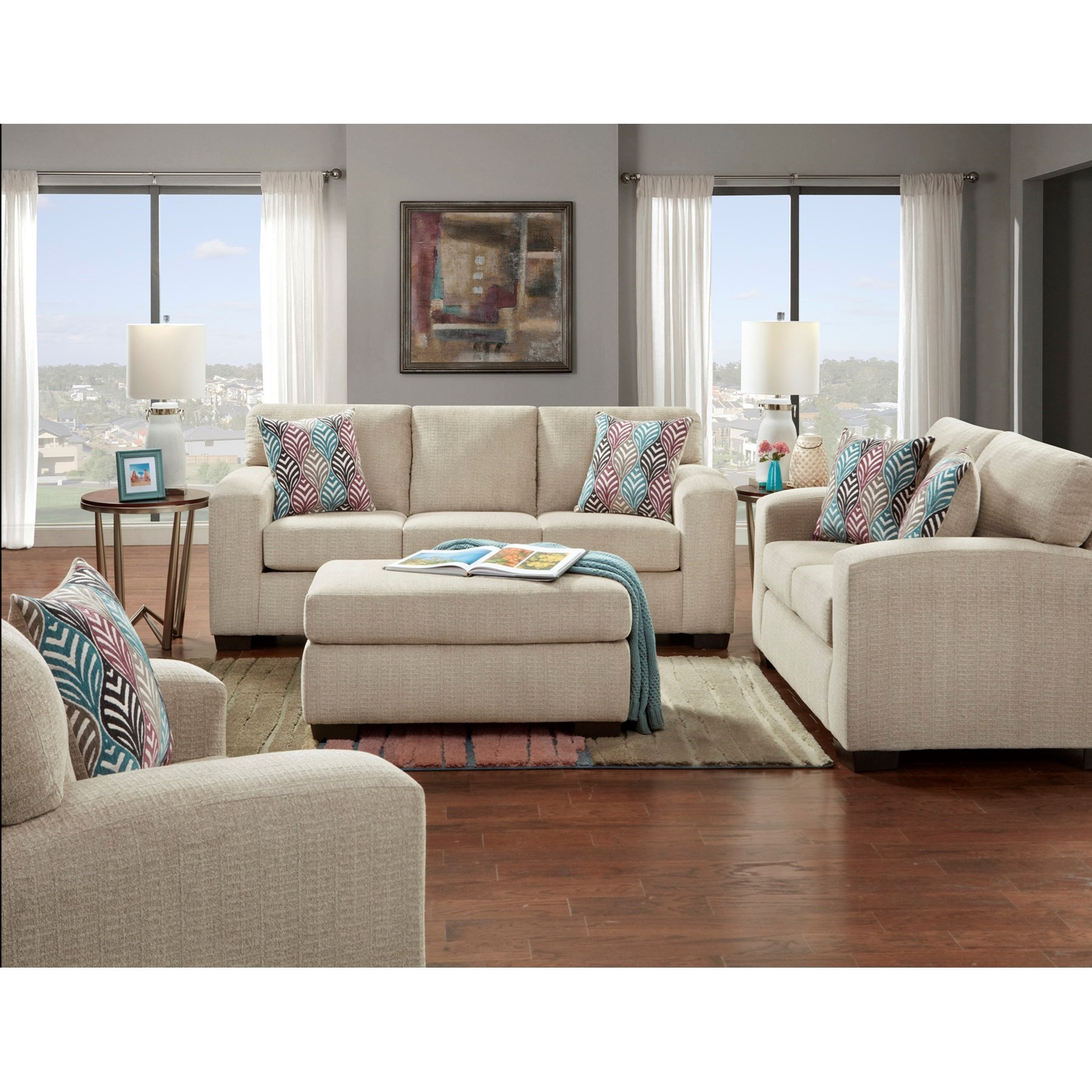 Contemporary Queen Sleeper Sofa with Track Arms - 5900 by ...