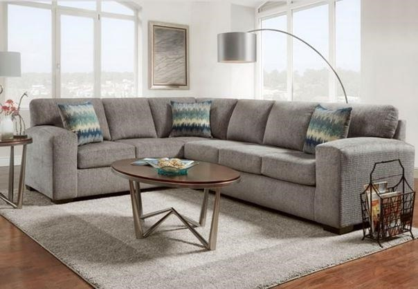 Affordable Furniture 5950 Silverton Pewter Sectional Sofa Colders