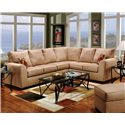 Affordable Furniture 6150 Two Piece Sectional Sofa - Item Number: 6151+6152