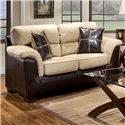 Affordable Furniture 6200 Fabric/Faux Leather Loveseat - 6202