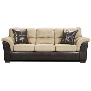 6200 Fabric/Faux Leather Sofa by Affordable Furniture