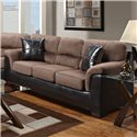 Affordable Furniture 6200 Sofa - Item Number: 6203Choc