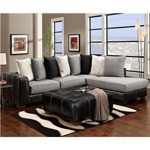 Affordable Furniture 6350 6350 Sectional and Ottoman