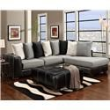 Affordable Furniture 6350 6350 Sectional and Ottoman - Item Number: 6350BLKGroup